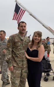 Christine and her fiancé